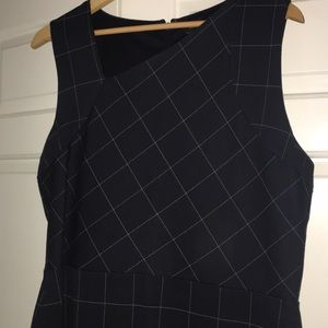 NWT Banana Republic Factory Navy Windowpane Dress